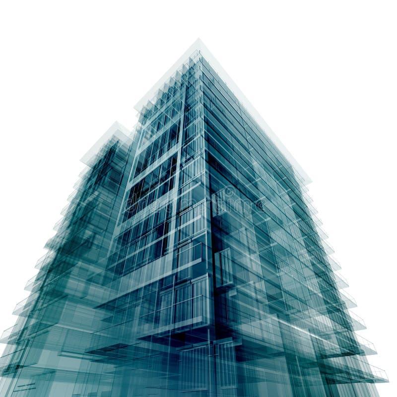 Modern office building vector illustration