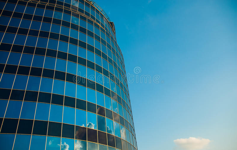 Modern office building against the sky. Background stock images