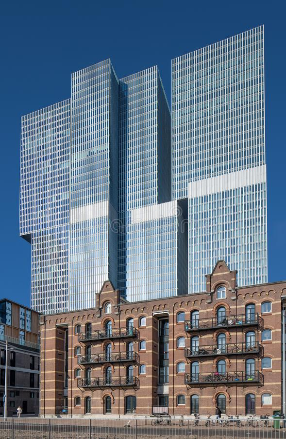 Free Modern Office Building At Kop Van Zuid, Rotterdam, Netherlands Stock Photography - 110577172
