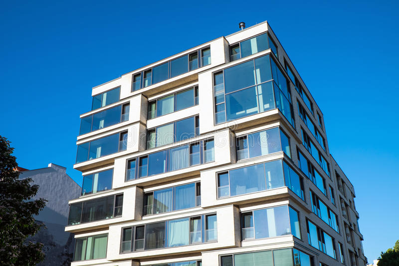 Modern office building in Berlin. Modern office and apartment building in Berlin royalty free stock images