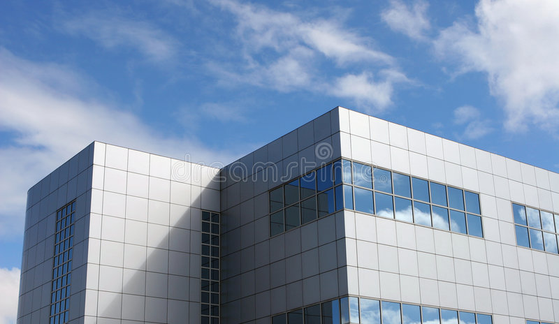Modern Office Building Block royalty free stock images