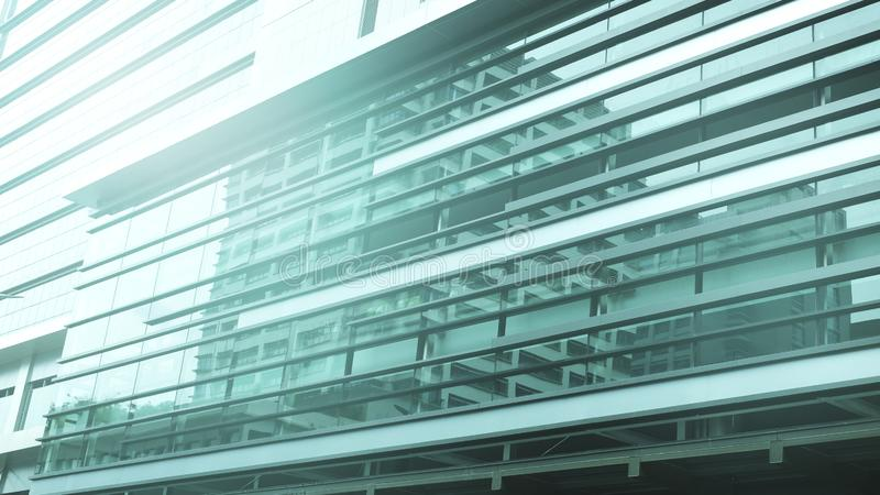 Modern office building.building with copy space.windows office building for background stock image