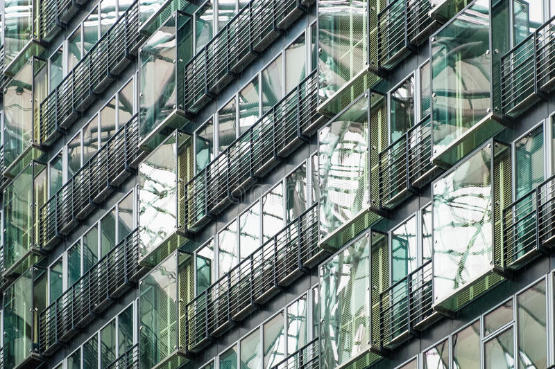 Modern office building detail of the Sony Center at Potsdamer Platz stock photo