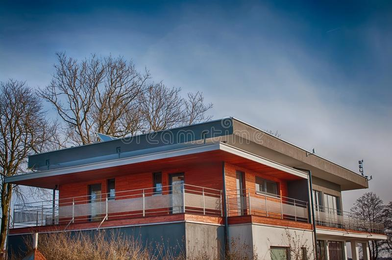 Modern office building in early spring royalty free stock images