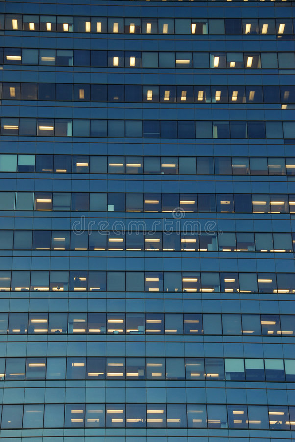 Modern office building in edmonton royalty free stock image