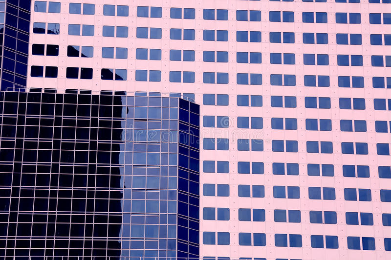 Modern office building exterior windows background stock photography