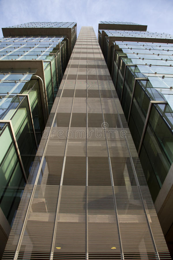 Modern office building external stairs stock photography