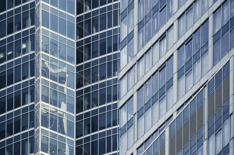 Modern office building glass facade fragment stock images