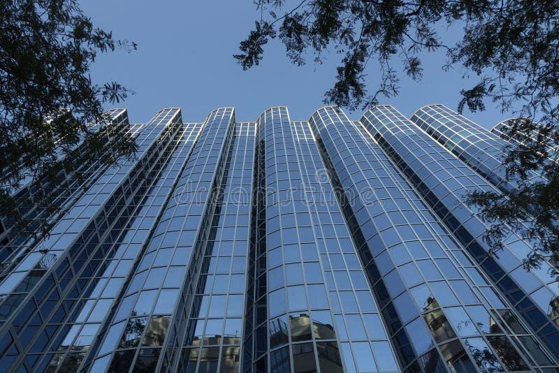 Modern office building glass facade royalty free stock photos