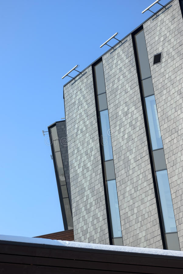 Download Office Building With Gray Walls On Blue Sky Stock Photo - Image: 29949512