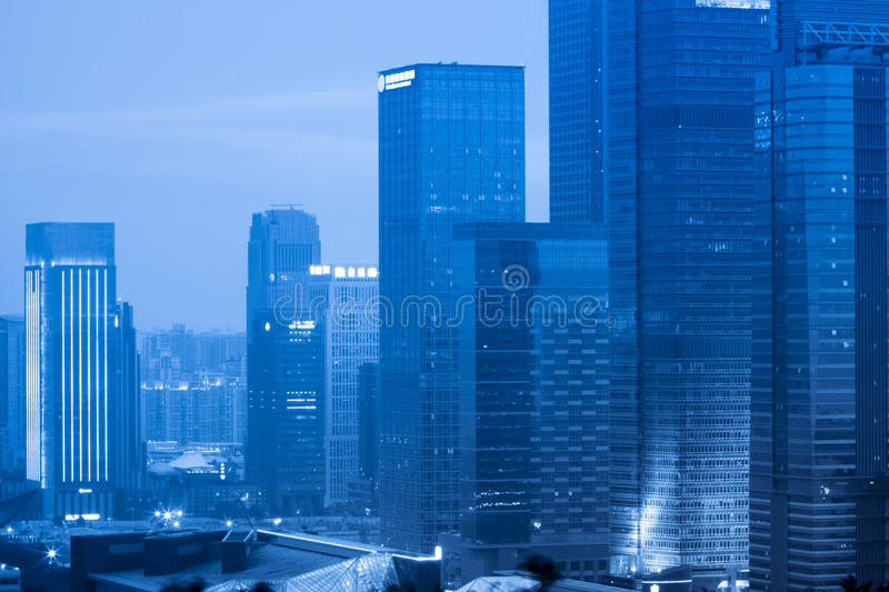 Modern office building group stock images