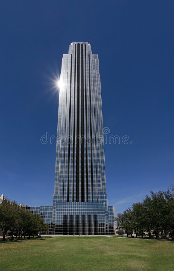 Modern office building in Houston, Texas stock image