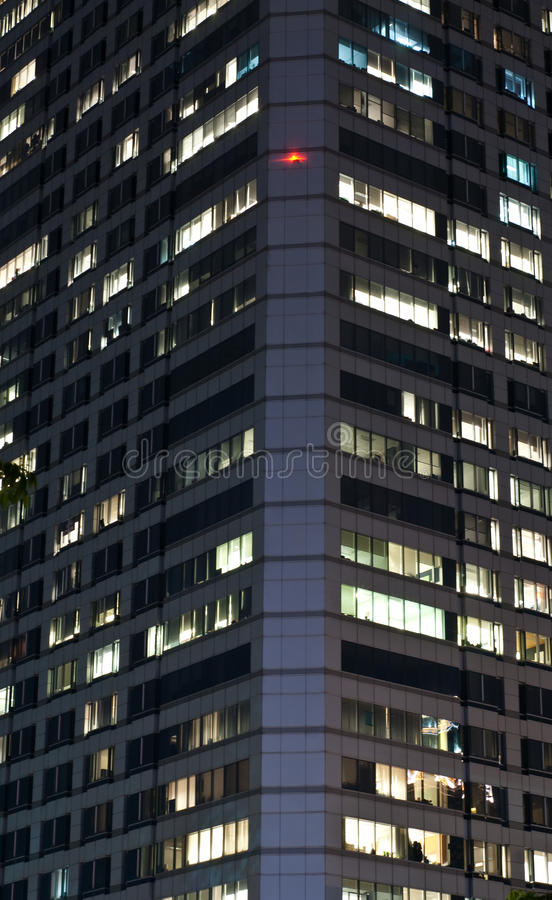 Download Modern Office Building At Night Stock Image - Image: 15466775