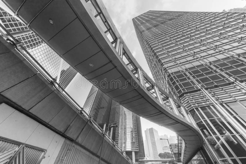 Downtown of Hong Kong city royalty free stock image