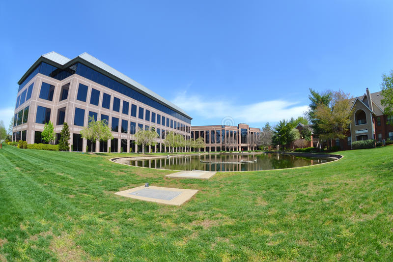 Download Modern Office Building With Pond Stock Image - Image: 24172201