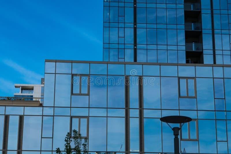 Modern office building in Portland Oregon stock images