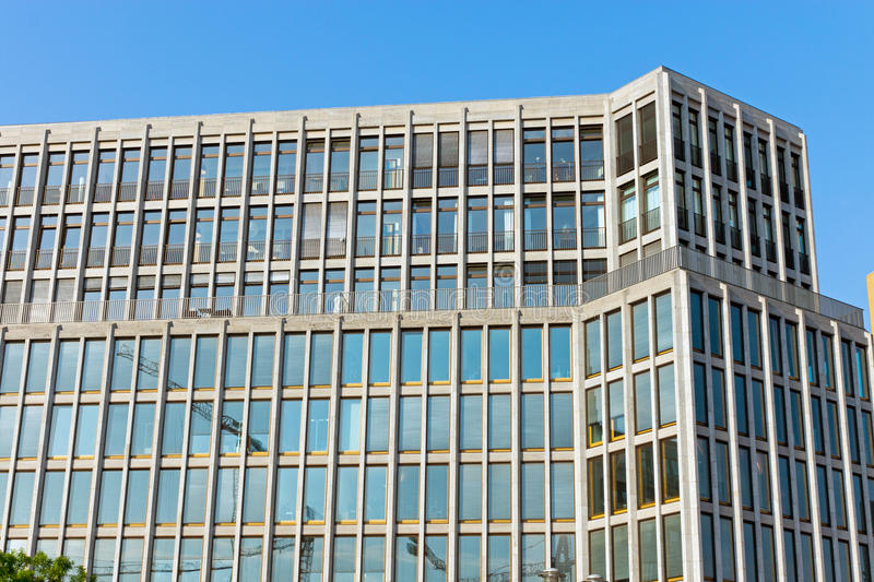 Modern office building. A modern office building seen in Berlin stock image