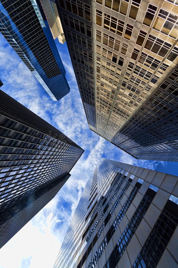 Free Modern Office Building Skyscrapers & Clouds Stock Images - 17992104