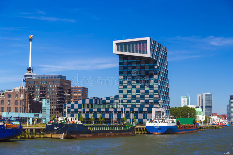 Modern office building of STC-Group company, Rotterdam, Netherlands stock image