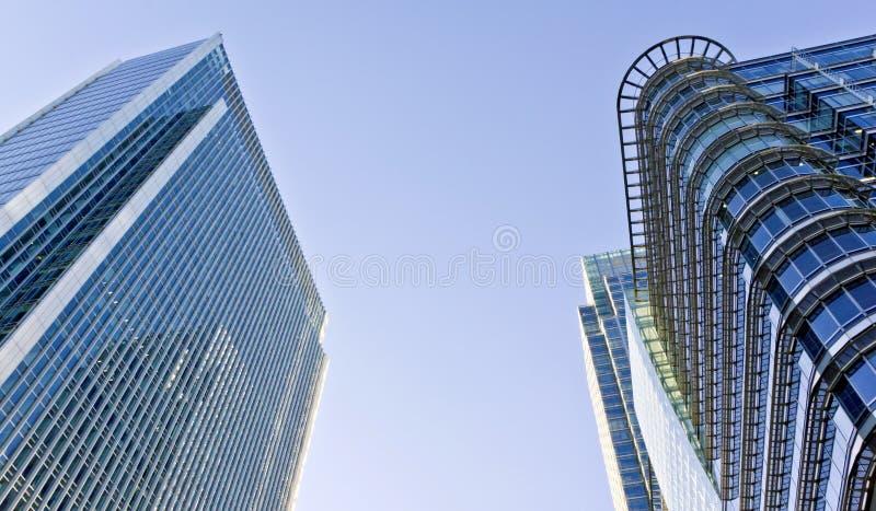 Modern Office Buildings. In Canar Wharf, London stock photos