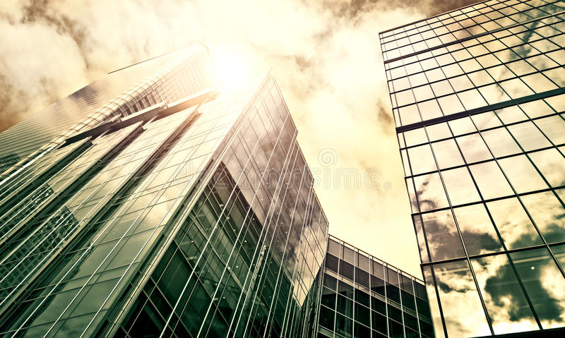 Modern Office Buildings. In Canary Wharf, London royalty free stock images