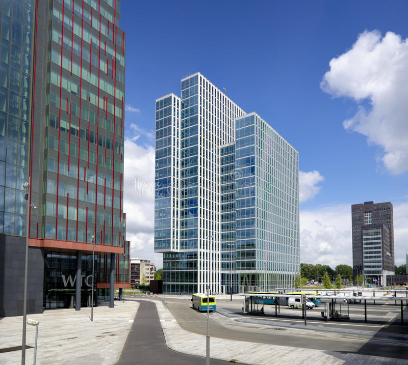 Modern office buildings. In Almere, Netherlands royalty free stock images