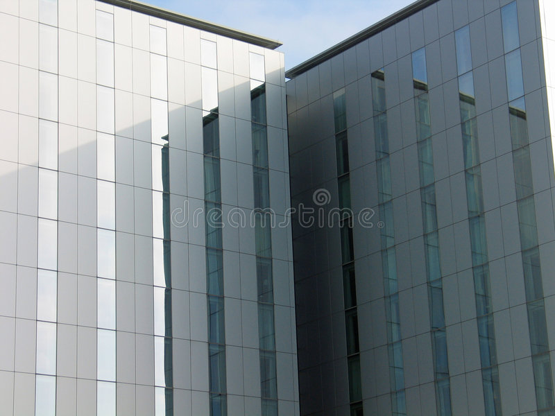 Modern office buildings. Close up of modern office buildings royalty free stock photography