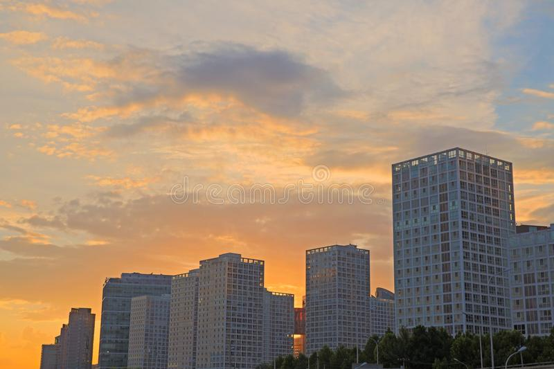 Modern office buildings, CBD Beijing. Business building, landmark, Beijing city stock photos