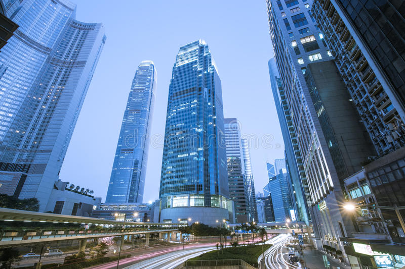 Modern office buildings in Central Hong Kong royalty free stock photos