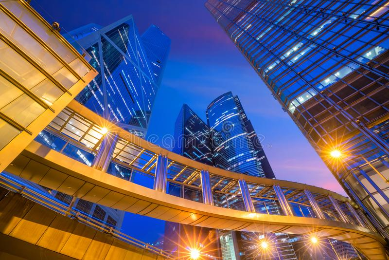 Modern office buildings in central Hong Kong royalty free stock image