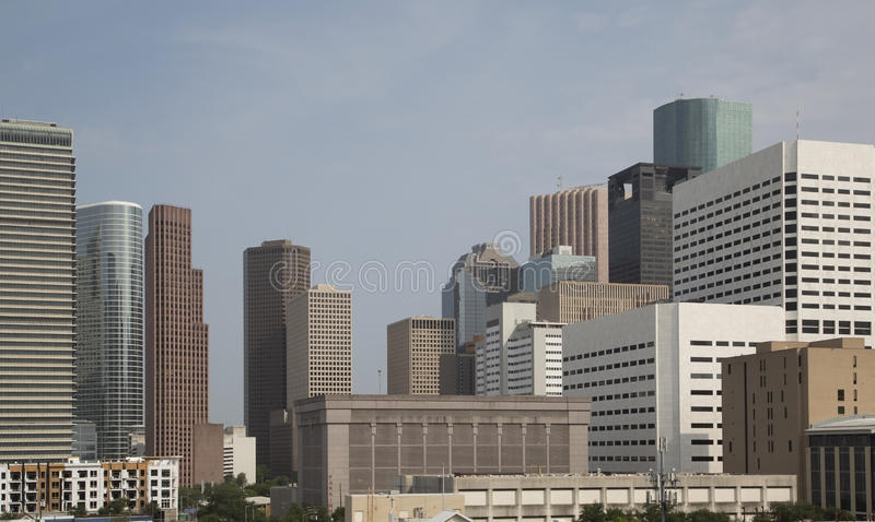 Modern office buildings in downtown of Houston stock image