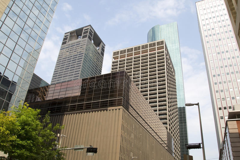 Modern office buildings in downtown Houston royalty free stock image