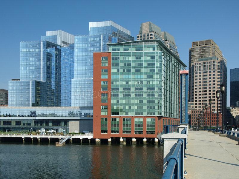 Download Modern Office Buildings On Harbor Stock Image - Image: 5953031
