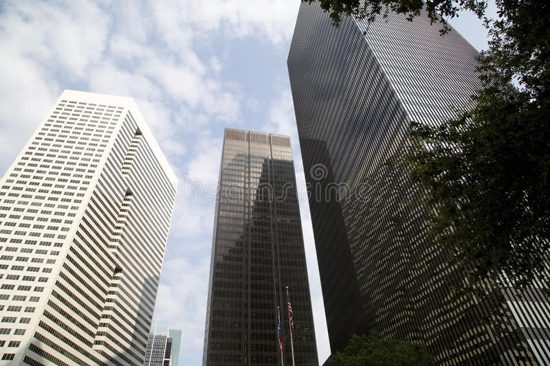Modern office buildings in Houston royalty free stock photo