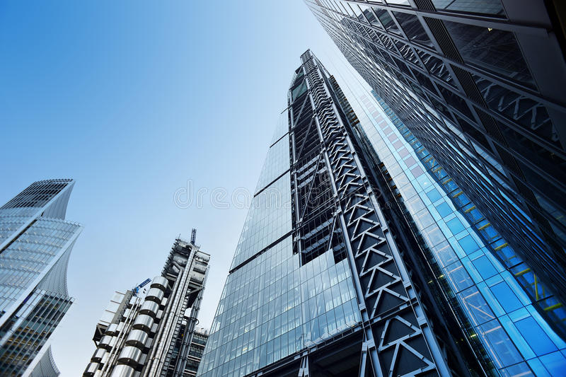 Low Angle View Of Modern Office Buildings Photo: Modern Office Buildings From Low Angle View Stock Image