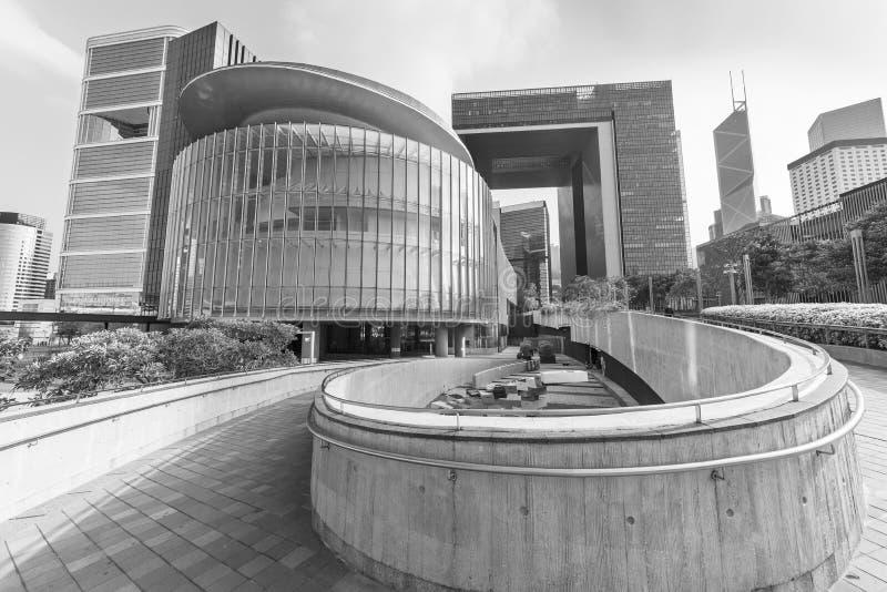 Modern office buildings in Hong Kong city stock photos