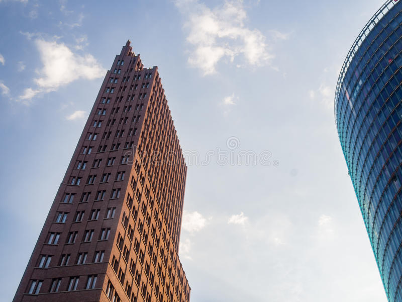Modern office buildings at Potsdamer Platz, Berlin royalty free stock photography