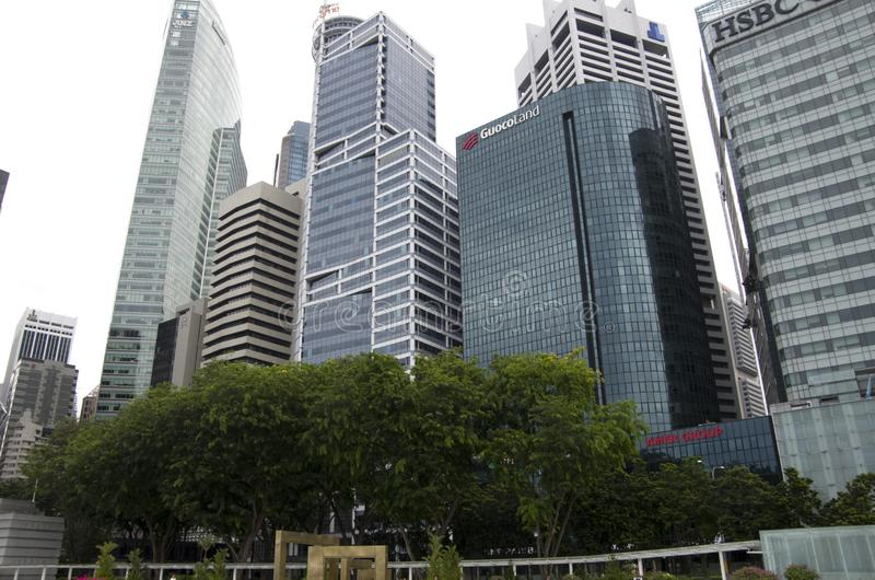 Modern office buildings in Singapore royalty free stock image