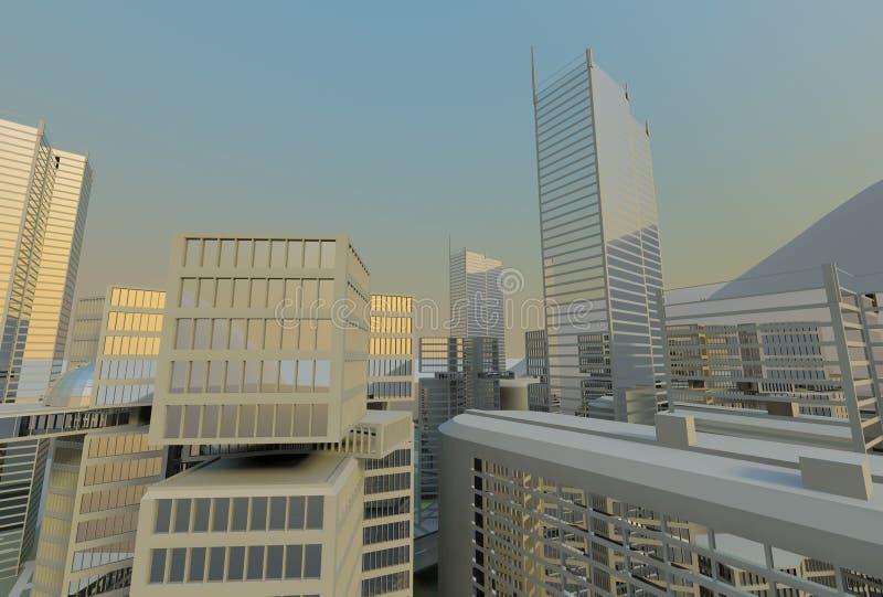 Download Modern Office Buildings, Skyline Stock Illustration - Image: 12651514