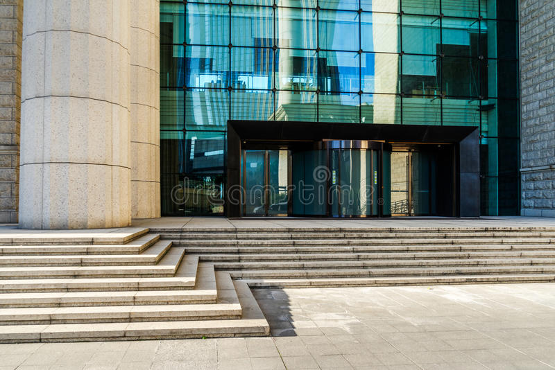Modern office bulding entrance. In Shanghai,China royalty free stock photography