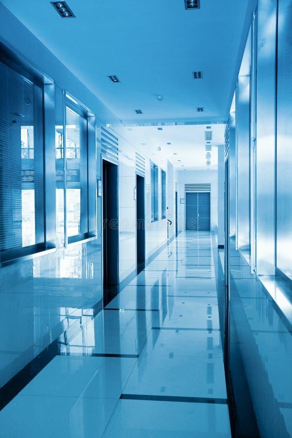 Modern office corridor stock photo