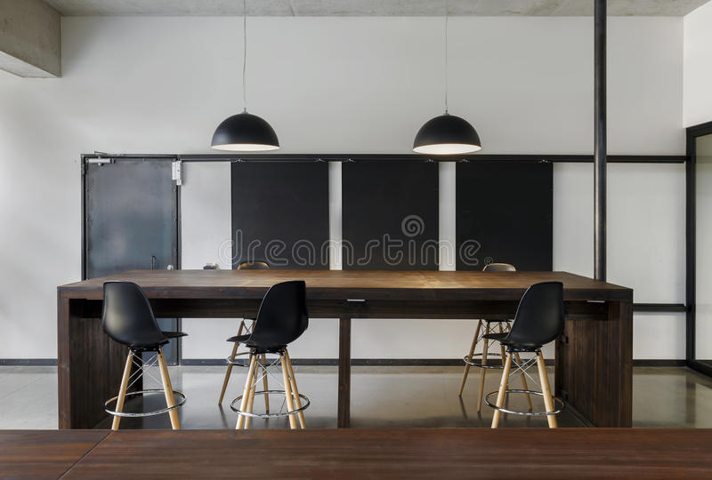 Modern office coworking space royalty free stock image
