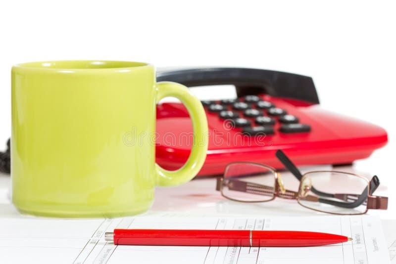 Download Modern office desktop stock photo. Image of economic - 28532960