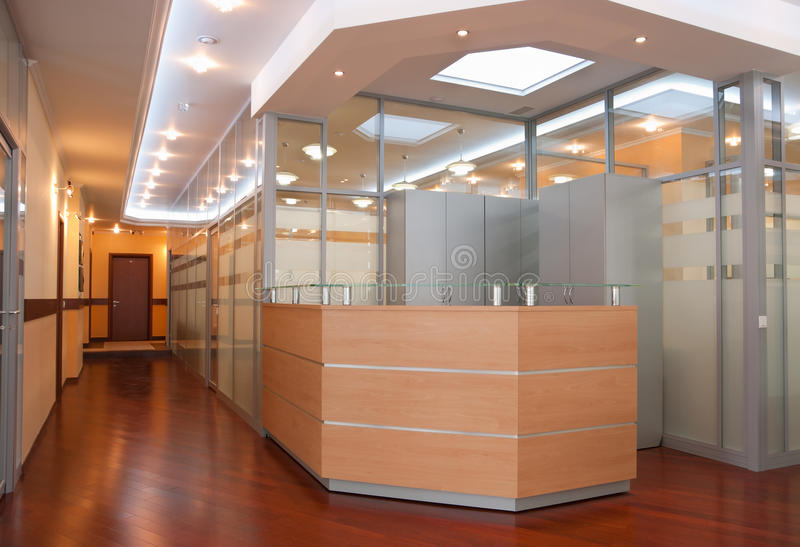 Download Modern office interior stock image. Image of corridor - 14498969