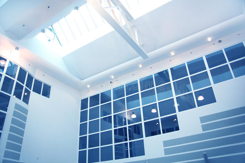 Modern office interior. With atrium royalty free stock images
