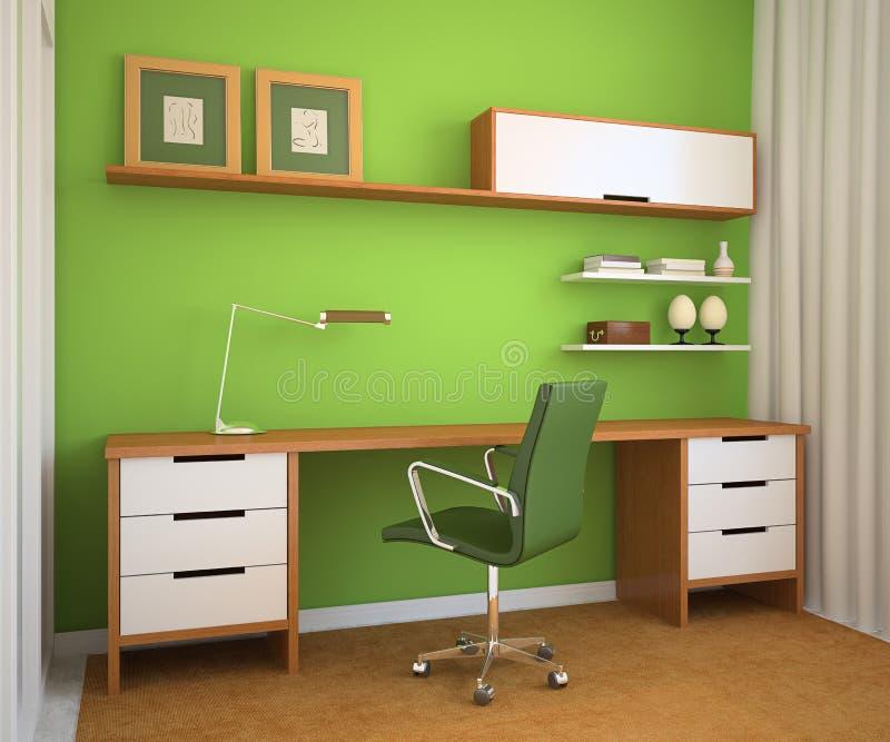 Modern office interior. royalty free illustration
