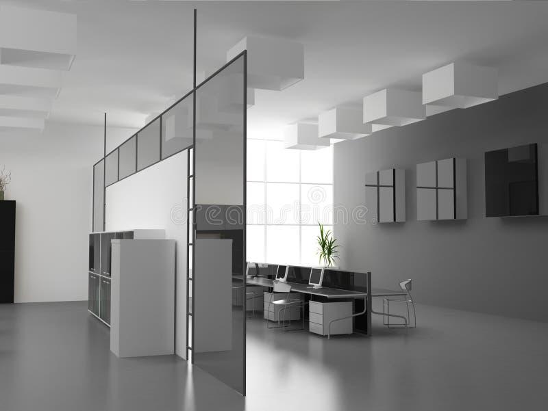 The modern office interior vector illustration