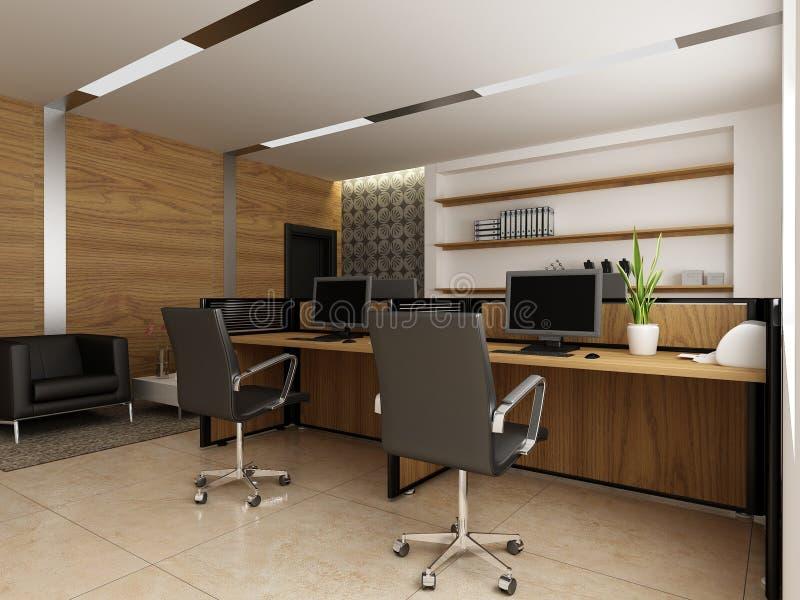 Modern office interior. A 3d render of a modern office