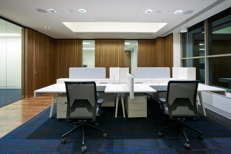 Modern office interior. In new building royalty free stock photos