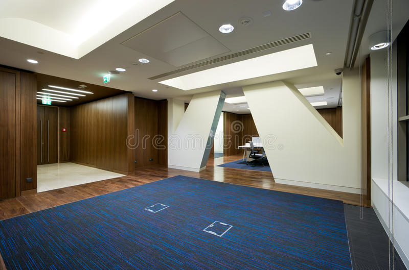 Modern office interior. Entrance hall stock image